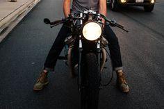devlyn on his motorcycle