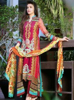 Mahnoor Summer Lawn Collection For Eid 2014   Summer Wear Dress For Girls By Al-Zohaib Textiles