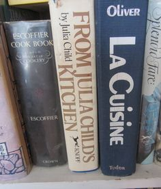 3 cookbooks I treasure: La Cuisine by Olivier, From Julia Child's Kitchen(old book of hers) & Escoffier Cookbook.