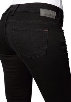 Mustang - Skinny Leg/Low Rise - Damen Jeans Hose in Schwarz, Gina Skinny (3588-5488) - Kaufen bei Michaelax Fashion Trade