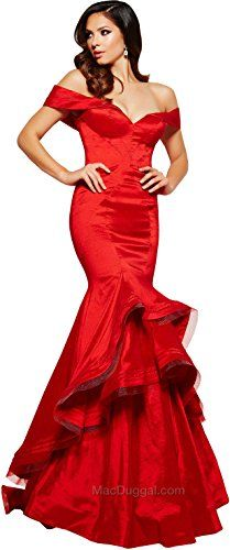 $$  Mac Duggal's 48189M Spring 2016 Collection Women's Dress, Red, Size 16