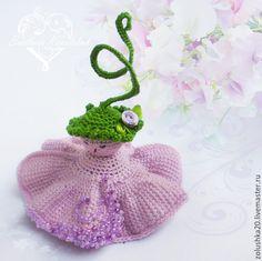 """Купить Феечка """"Душистый горошек"""" - фея, феечка, девочка, цветок, цветочек, зеленый, вязаная, игрушка Crochet Earrings, Toys, Jewelry, Fashion, Activity Toys, Moda, Jewels, Fashion Styles, Schmuck"""