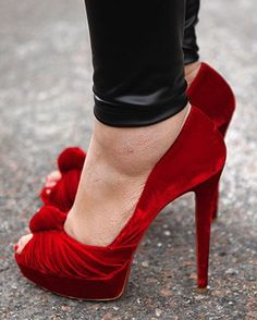 Awesome red heels These are cool with some hot red lipstick and a leatha jacket !!