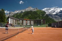 Tennis - Les Diablerets, Switzerland Summer Activities, Tennis, Basketball Court, Switzerland, Sports, Hs Sports, Sport, Summer Fun