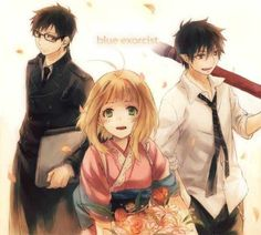 Blue Exorcist Yukio, Shiemi, Rin