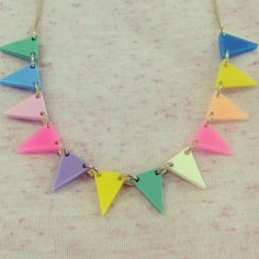 Last night's Bunting Necklace Workshop celebrated our new neon and pastel colour way necklace. Love it? You'll find it for sale in store and online now, £35.00.