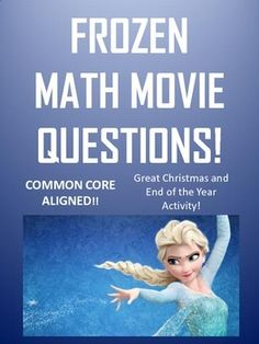 This is a 20 question worksheet that goes along with the movie frozen