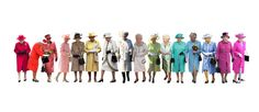 Queen Elizabeth II's Fashion Rainbow -- Also good, if not as thorough.
