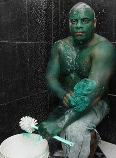 Wannabe Incredible Hulk Used Green Industrial Paint That Wouldn't Come Off