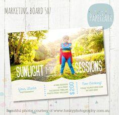 Photography Marketing board Photoshop por PaperLarkDesigns en Etsy