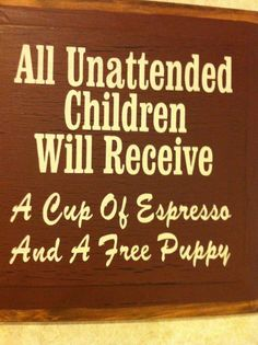 This sign should hang from all salons! Too funny.
