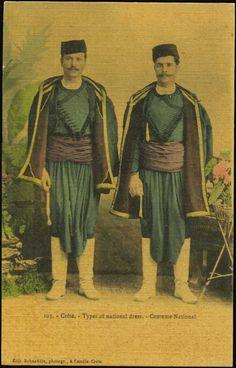 Crete-Costume national. (R. Behaeddin) 1907