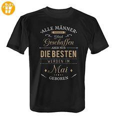 Fashionalarm Herren T-Shirt - Nur die besten Männer werden im Mai geboren | Fun Shirt mit Spruch als Geburtstag Geschenk Idee, Farbe:schwarz;Größe:XL (*Partner-Link)