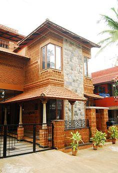 House design - Centre for Vernacular Architecture Trust Gallery Village House Design, Bungalow House Design, House Front Design, Modern House Design, Indian House Exterior Design, Indian Home Design, Kerala House Design, Chettinad House, Kerala Traditional House