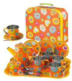 Tin Tea Set, I love everything about this set!