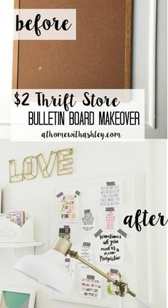 16 Ideas Craft Room Organization On A Budget Thrift Stores Diy Projects For 2020 Upcycled Crafts, Recycled Decor, Diy Cork Board, Cork Boards, Cork Board Ideas For Bedroom, Cork Board Projects, Diy Laden, Thrift Store Crafts, Thrift Stores