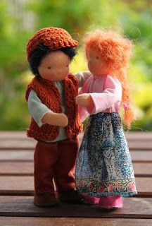 bendy dollhouse dolls father and mother by Eline's poppenwereld