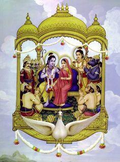 Rama Navami 2018 can be a day of great beginnings for everyone. Doing Rama Homam ensures an individual achieves mental strength, will power and self esteem. Om Namah Shivaya, Indian Gods, Indian Art, Ram Pic, Rama Lord, Lord Rama Images, Shri Hanuman, Durga, Sri Rama