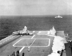 File:F7Us VF-124 launching from USS Hancock (CVA-19) c1955.jpg