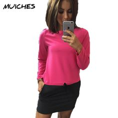 Find More Dresses Information about 2016 Autumn women loose knitting patchwork straight dress casual o neck long sleeved tunic cute mini dresses plus size,High Quality mini summer dress,China mini bride flower girl dresses Suppliers, Cheap mini crayon from MUICHES Store on Aliexpress.com
