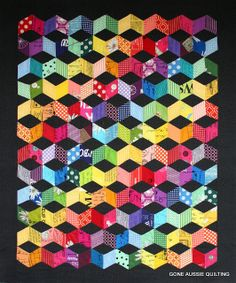 tumbling blocks/gone aussie quilting