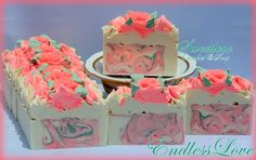 Endlessly In Love Luxury Soap-rose soap, endless love victoia secret dupes, pink soap,handmade soap, cold process soap,