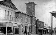 Oddfellows Hall, Post Office with clock tower and Telegraph Station, Murray Street, Gawler, early 1900s by Gawler History, via Flickr