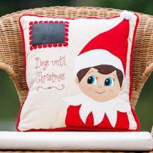 Elf On The Shelf Days Til Christmas Pillows