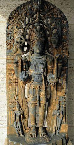 Vishnu - Mysore South India, 12th Century at The Kreeger Art Museum Washington DC