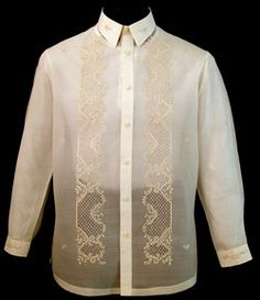 PINA-JUSI BARONG TAGALOG  Piña-Jusi Barong Tagalog #2016    Our classic Piña-Jusi Barong Tagalog, redefined in a more substantial weave to add texture to enhance your look and accentuate your style.  Piña resemblance in high-quality 100% Jusi Fabric  Classic Formal fit  Full-open button front    Price:  $89.99