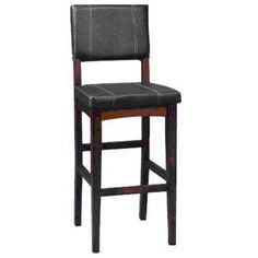 English Pub Stylized Wood Bar Stool Seating Chair N