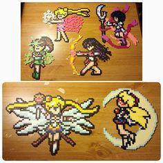 Sailor Scouts perler beads