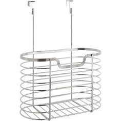 Chrome Over-the-Cabinet Kitchen Organizer, Silver