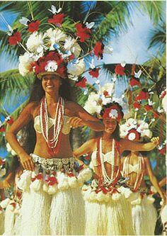Beautiful hula dancers