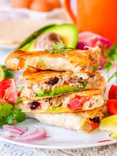 1. Scrambled Egg and Veggie Breakfast Quesadillas #highprotein #breakfast #recipes http://greatist.com/eat/high-protein-breakfasts-healthy-recipe-ideas