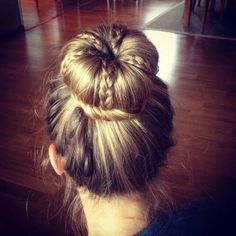 Unique bun with braids
