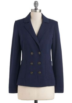 $59.99 Nautical Me Maybe Blazer, #ModCloth