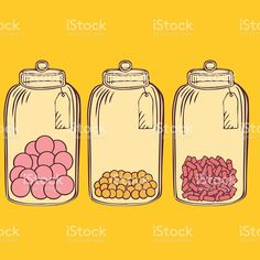 Glass candy jar royalty-free stock vector art Glass Candy Jars, Free Vector Art, Bakery, How To Draw Hands, Royalty, Doodles, Clip Art, Clay, Illustrations