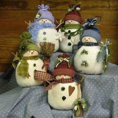 Odds & Ends Snowmen *PATTERN* Primitive - Xmas   eBay