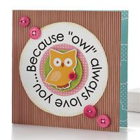 Owl Always Love You Card by @Teri Anderson - supplies and instructions included