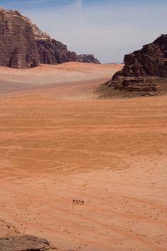 Wadi Rum Desert, Jordan. Where the movie The Martian was filmed.
