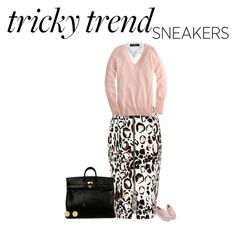 """Tricky trend sneakers"" by paolanoel ❤ liked on Polyvore featuring moda, Steffen Schraut, River Island, J.Crew, Hermès ve Julie Vos"