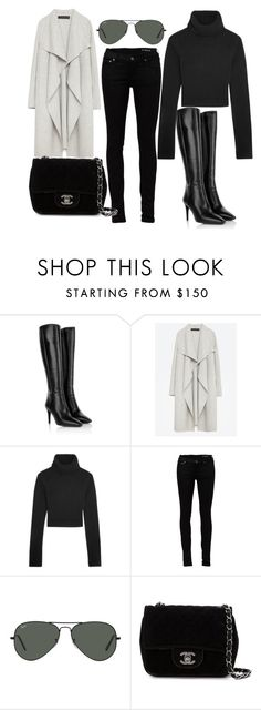"""""""Untitled #159"""" by binabeee ❤ liked on Polyvore featuring Prada, Zara, Michael Kors, Yves Saint Laurent, Ray-Ban and Chanel"""