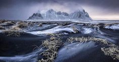 Winter in Stokkness Iceland captured by Sony influencer @wildlifemoments  I took this panorama by shooting three shots at the same exposure setting the tripod at a low angle to capture the texture of the black sand and applying the rule of thirds during composition  a guideline I use for all my landscape photography.   Sony α7 II   Sony 16-35 f4 ZA @ 19mm   ISO 100   f/8   0.5s   via Sony on Instagram - #photographer #photography #photo #instapic #instagram #photofreak #photolover #nikon…