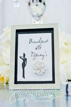 "The classic Audrey Hepburn image was our inspiration behind the ""Breakfast At Tiffany's"" design. Stationary designed by Creative Weddings Stationary Designs (Photo courtesy of @Christy Swanberg)"