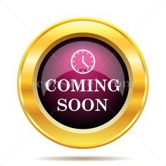 Coming soon icon. Coming soon website button on white background. – Icons for your website