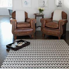 Designer Teppich Squares beige