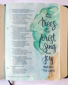 It has been a great day! After church I broke out my much neglected Journaling Bible grabbed a pencil and watercolors and looked up a verse from our scripture reading this morning. I penciled the words in and went over them with a Pentel Sign Pen with a brush tip. Then I drew the tree and watercolored it and the sky (which is much more blue in real life). I love that the watercolors don't cover up the scriptures and I was so happy the marker didn't smear! I had to ask @shannanoel for advice…