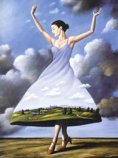 Rafal Olbinski - love the movement and feel of this painting!