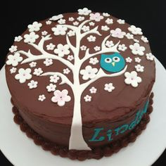 Cake Endeavours: Owl in Tree for Lindsay